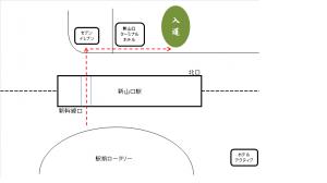 新山口駅前地図